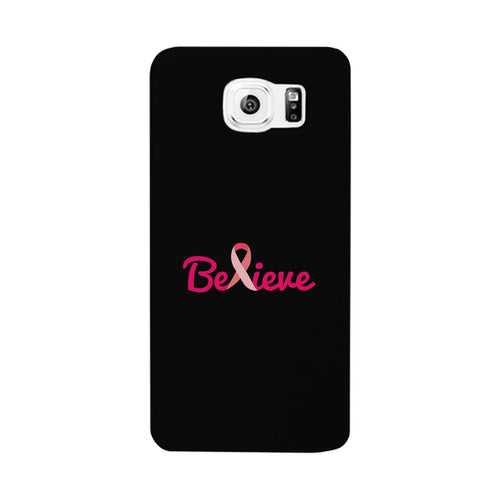 Believe Breast Cancer Awareness Black Phone Case