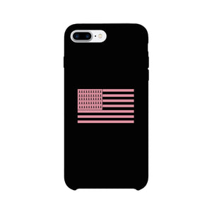 Breast Cancer Awareness Pink Flag Black Phone Case