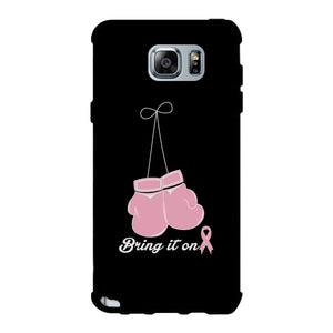 Bring It On Breast Cancer Awareness Boxing Black Phone Case