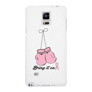 Bring It On Breast Cancer Awareness Boxing White Phone Case
