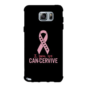 I You We Can-Cervive Breast Cancer Black Phone Case