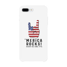 Merica Rocks Phone Case 4th of July Gift Unique Graphic Phone Cover