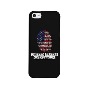 Fingerprint USA Flag Phone Case 4th of July Graphic Phone Cover