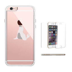 365Printing 360° Full Protection Cute Seal Playing with Apple Funny Phone Cases