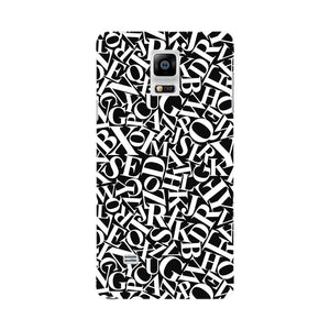 Alphabets Pattern Phone Case Samsung Galaxy Note 4 case