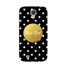 Black Case White Polka Dots Custom Case Samsung Galaxy S4 case