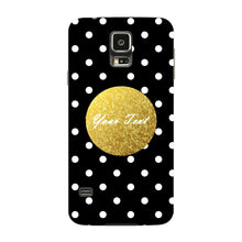 Black Case White Polka Dots Custom Case Samsung Galaxy S5 case