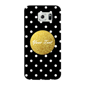 Black Case White Polka Dots Custom Case Samsung Galaxy S6 Edge case