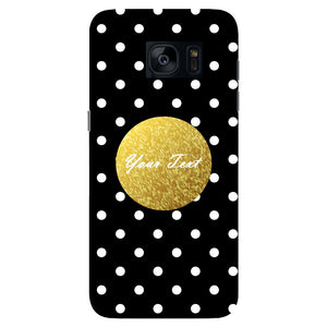 Black Case White Polka Dots Custom Case Samsung Galaxy S7 Edge case