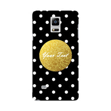 Black Case White Polka Dots Custom Case Samsung Galaxy Note 4 case