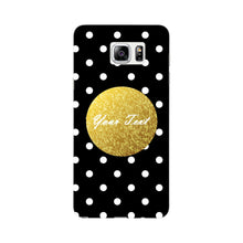 Black Case White Polka Dots Custom Case Samsung Galaxy Note 5 case