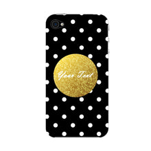 Black Case White Polka Dots Custom Case iPhone 4S case