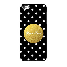 Black Case White Polka Dots Custom Case iPhone 5 case