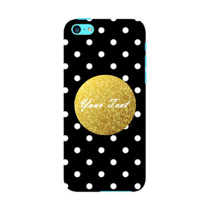 Black Case White Polka Dots Custom Case iPhone 5C case