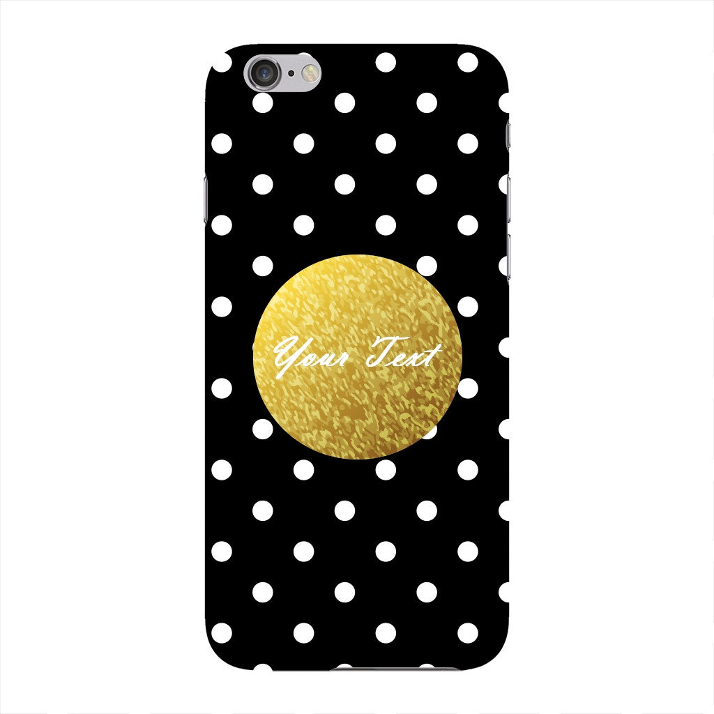 Black Case White Polka Dots Custom Case iPhone 6 case