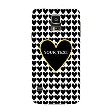 Black Hearts Custom Case Samsung Galaxy S5 case