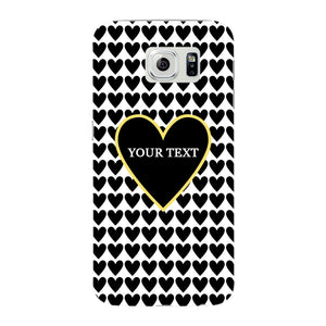 Black Hearts Custom Case Samsung Galaxy S6 Edge case