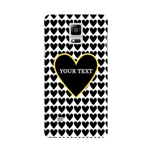 Black Hearts Custom Case Samsung Galaxy Note 4 case