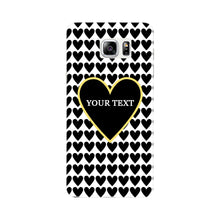 Black Hearts Custom Case Samsung Galaxy Note 5 case
