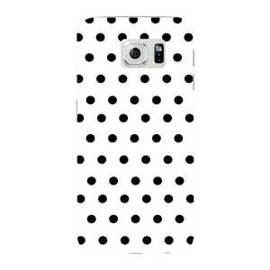 Black Polka Dots Phone Case Samsung Galaxy S6 Edge case