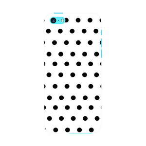 Black Polka Dots Phone Case iPhone 5C case