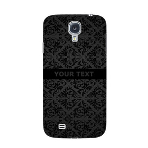 Black Wallpaper Pattern Custom Phone Case Samsung Galaxy S4 case