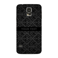 Black Wallpaper Pattern Custom Phone Case Samsung Galaxy S5 case
