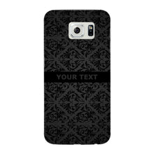 Black Wallpaper Pattern Custom Phone Case Samsung Galaxy S6 Edge case