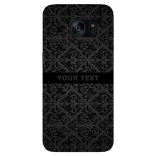 Black Wallpaper Pattern Custom Phone Case Samsung Galaxy S7 Edge case