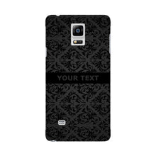 Black Wallpaper Pattern Custom Phone Case Samsung Galaxy Note 4 case