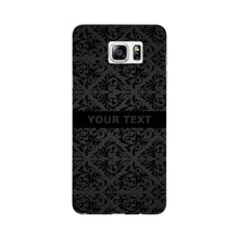 Black Wallpaper Pattern Custom Phone Case Samsung Galaxy Note 5 case