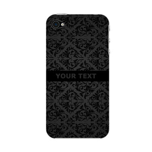 Black Wallpaper Pattern Custom Phone Case iPhone 4S case