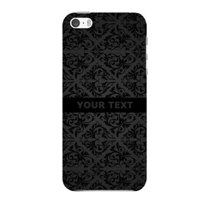 Black Wallpaper Pattern Custom Phone Case iPhone 5 case