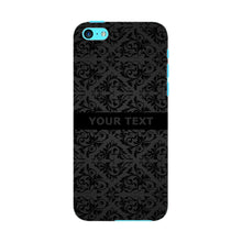 Black Wallpaper Pattern Custom Phone Case iPhone 5C case