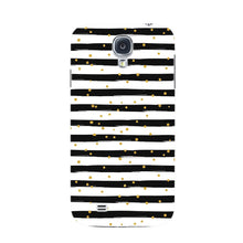 Black & White Stripes With Gold Glitter Phone Case Samsung Galaxy S4 case
