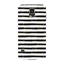 Black & White Stripes With Gold Glitter Phone Case Samsung Galaxy S5 case