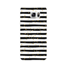 Black & White Stripes With Gold Glitter Phone Case Samsung Galaxy Note 4 case