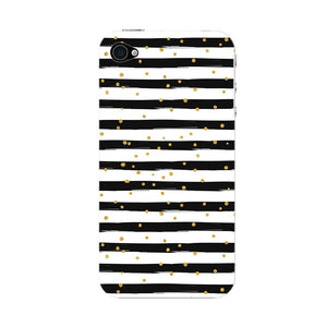 Black & White Stripes With Gold Glitter Phone Case iPhone 4S case