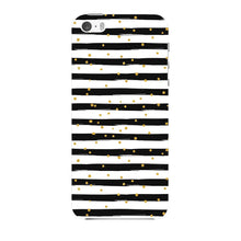 Black & White Stripes With Gold Glitter Phone Case iPhone 5 case