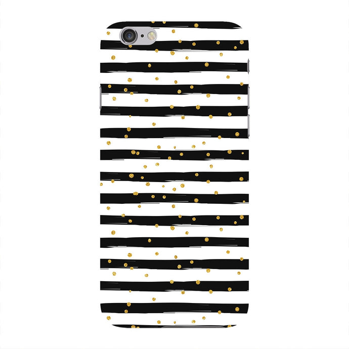 Black & White Stripes With Gold Glitter Phone Case iPhone 6 case