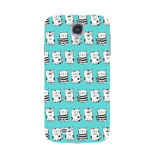 Blue Funny Cats Phone Case Samsung Galaxy S4 case
