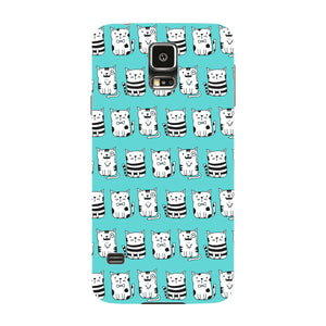 Blue Funny Cats Phone Case Samsung Galaxy S5 case