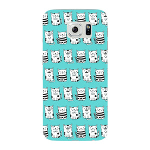 Blue Funny Cats Phone Case Samsung Galaxy S6 Edge case