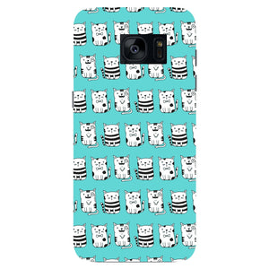 Blue Funny Cats Phone Case Samsung Galaxy S7 Edge case