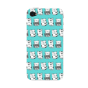 Blue Funny Cats Phone Case iPhone 4S case