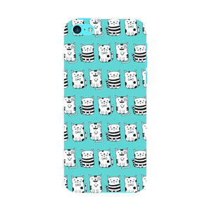 Blue Funny Cats Phone Case iPhone 5C case