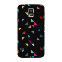 Colored Triangles Pattern Phone Case Samsung Galaxy S5 case