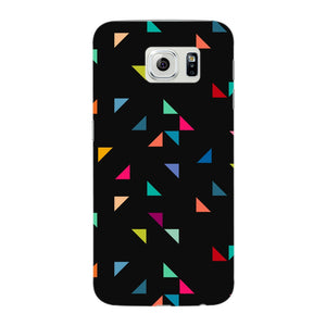 Colored Triangles Pattern Phone Case Samsung Galaxy S6 Edge case
