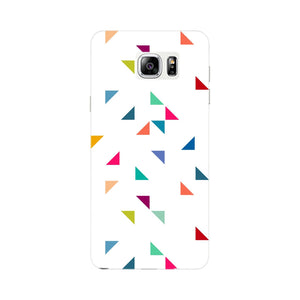 Colored Triangles Pattern Phone Case Samsung Galaxy Note 4 case