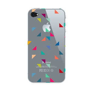 Colored Triangles Pattern Phone Case iPhone 4S case